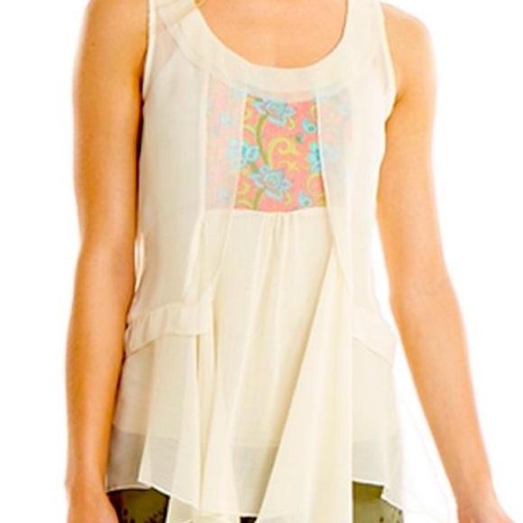 MATILDA JANE | Tank Dressy White Palisades Medium